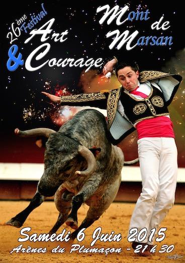 image-lien : affiche 2015 et lien vers page art et courage 2015 à Mont de Marsan