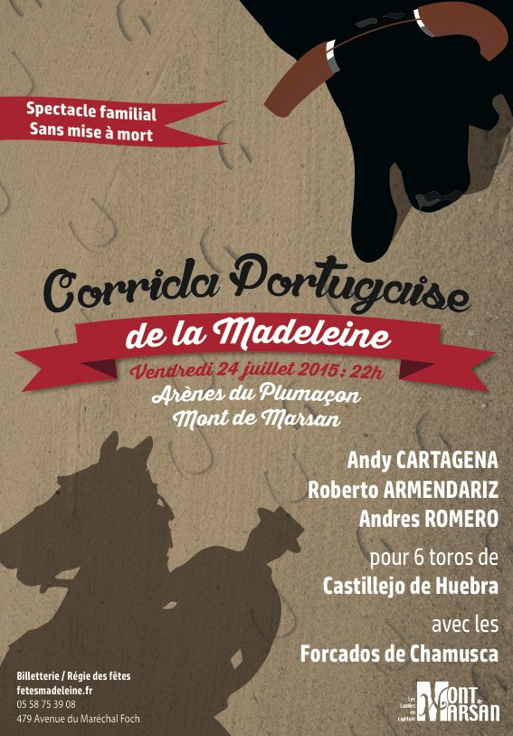 image : Affiche Madeleine 2015 - corrida portugaise