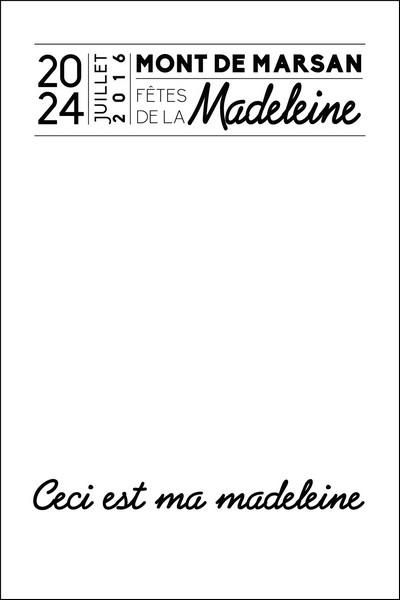 image : fond vierge Affiche Madeleine 2016