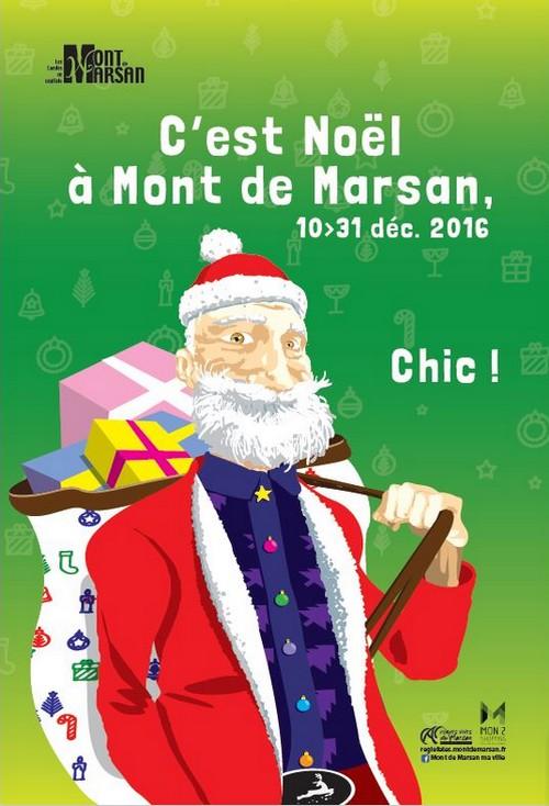 image : Affiche Noël 2016 à Mont de Marsan