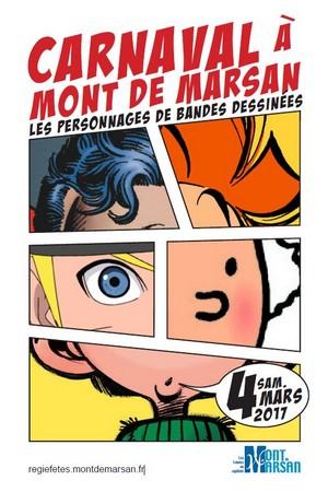 image-lien : affiche du Carnaval 2017 de Mont de Marsan et ien vers la page carnaval 2017