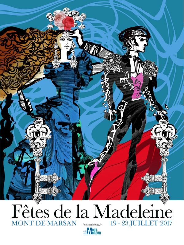 image : Affiche de la Madeleine 2017 créée par Christian Lacroix - Mont de Marsan