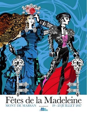 image : Affiche de la Madeleine 2017 créée par Christian Lacroix