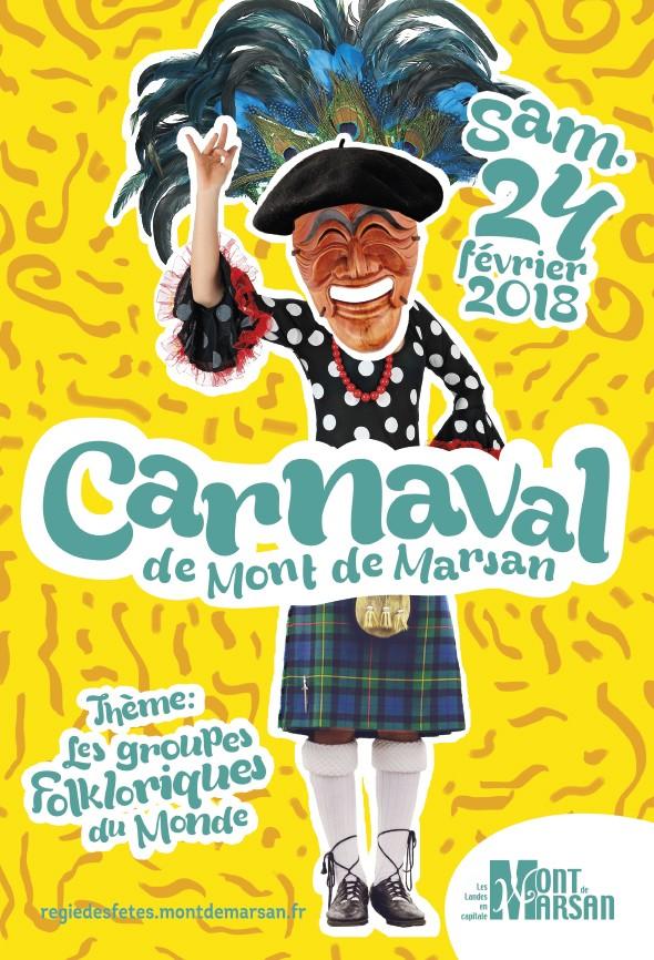 image-lien : affiche du Carnaval 2018 de Mont de Marsan et ien vers la page carnaval 2018