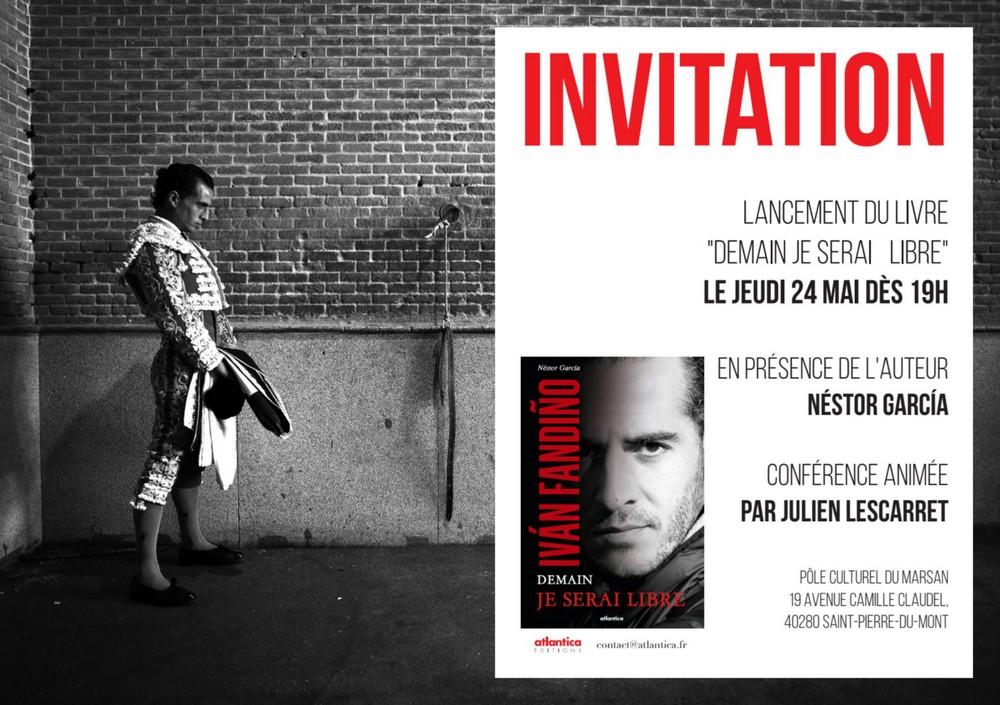 image : Invitation lancement du livre Demain je serai libre - Mont de Marsan