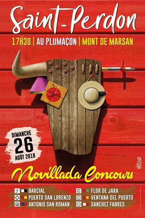 image : Affiche Novillada de Saint-Perdon 2018 - Plumaçon