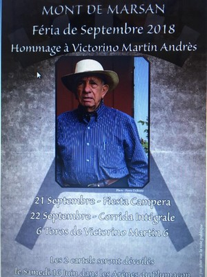 image : Affiche Corrida de Victorino Martin - Plumaçon