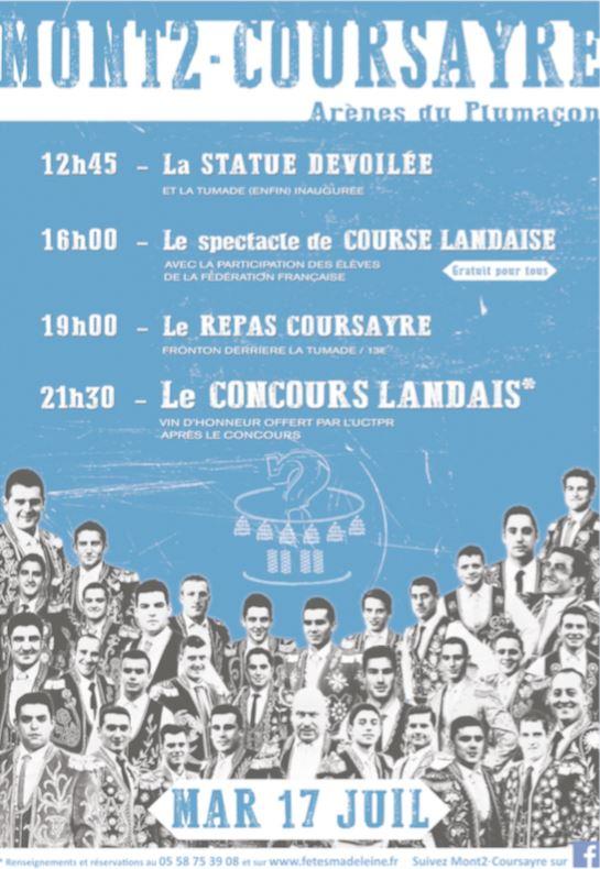 image : affiche Mont2Coursayre du 17 juillet 2018 - Mont de Marsan
