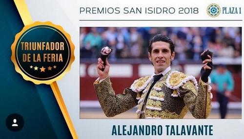image : Premios San Isidro 2018 - Alejandro Talavante