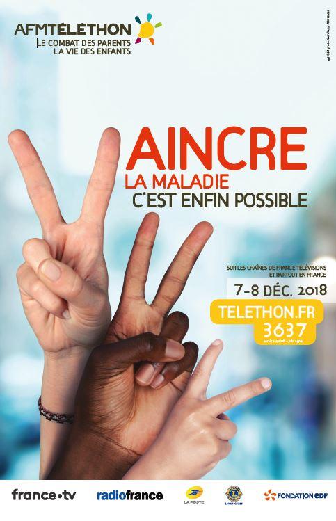 image : Affiches Téléthon 2018