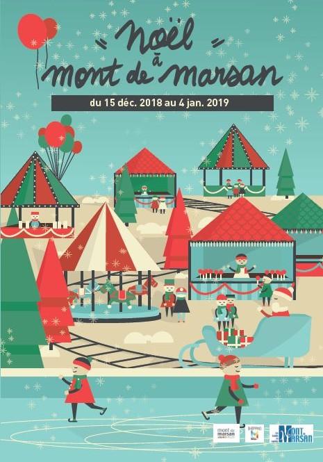 image-lien : affiche et lien vers page Noël à Mont de Marsan 2018