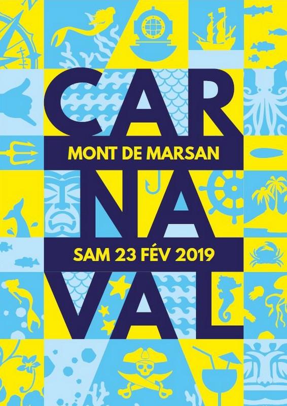 image : affiche du Carnaval de Mont de Marsan et ien vers la page carnaval 2019