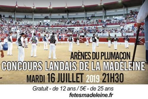 image : Concours landais Madeleine 16 juillet 2019