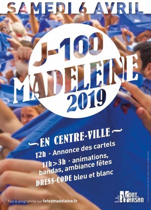image : Affiche J-100 avant la Madeleine - 6 avril 2019 - Mont de Marsan