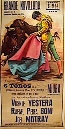 image : affiche Novillada du 8 mai 1982