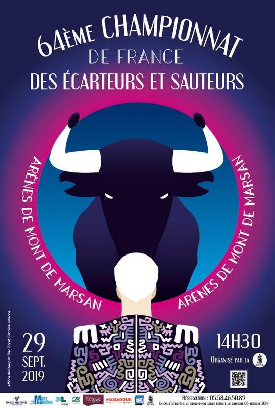 image : Affiche du 64e championnat de France des écarteurs et sauteurs - Mont de Marsan