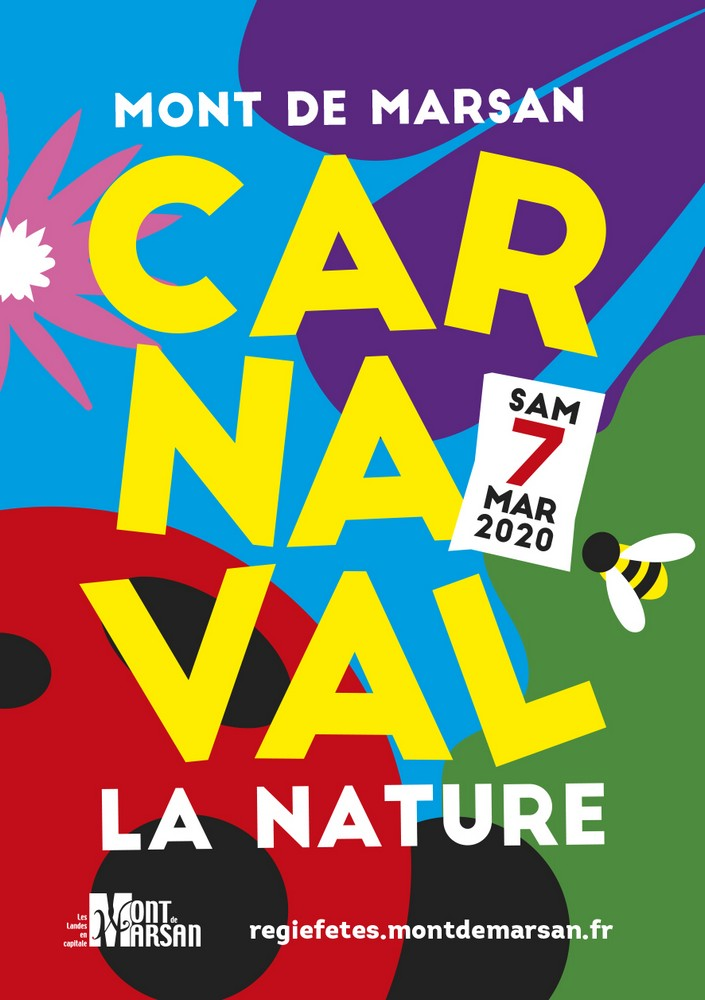 image-lien : affiche du Carnaval 2019 de Mont de Marsan et ien vers la page carnaval 2020